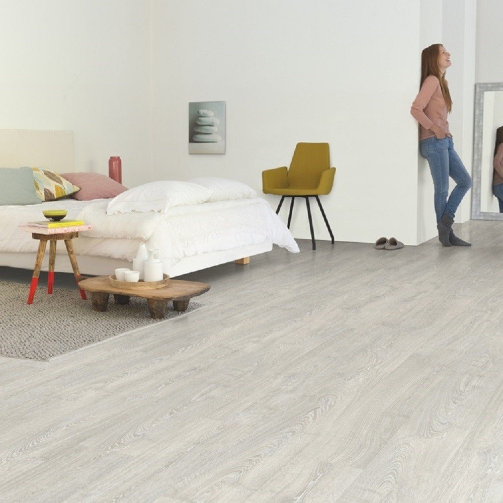 QUICK STEP LAMINATE IMPRESSIVE COLLECTION PATINA CLASSIC OAK GREY FLOORING 8mm