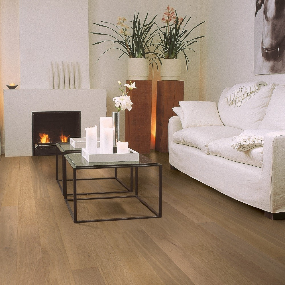 QUICK STEP ENGINEERED WOOD COMPACT COLLECTION OAK PURE MATT LACQUERED FLOORING 145x1820mm
