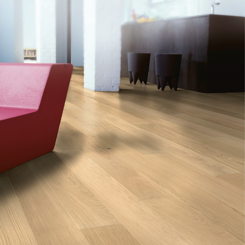 QUICK STEP ENGINEERED WOOD CASTELLO COLLECTION  PURE OAK MATT LACQUERED FLOORING 145x1820mm