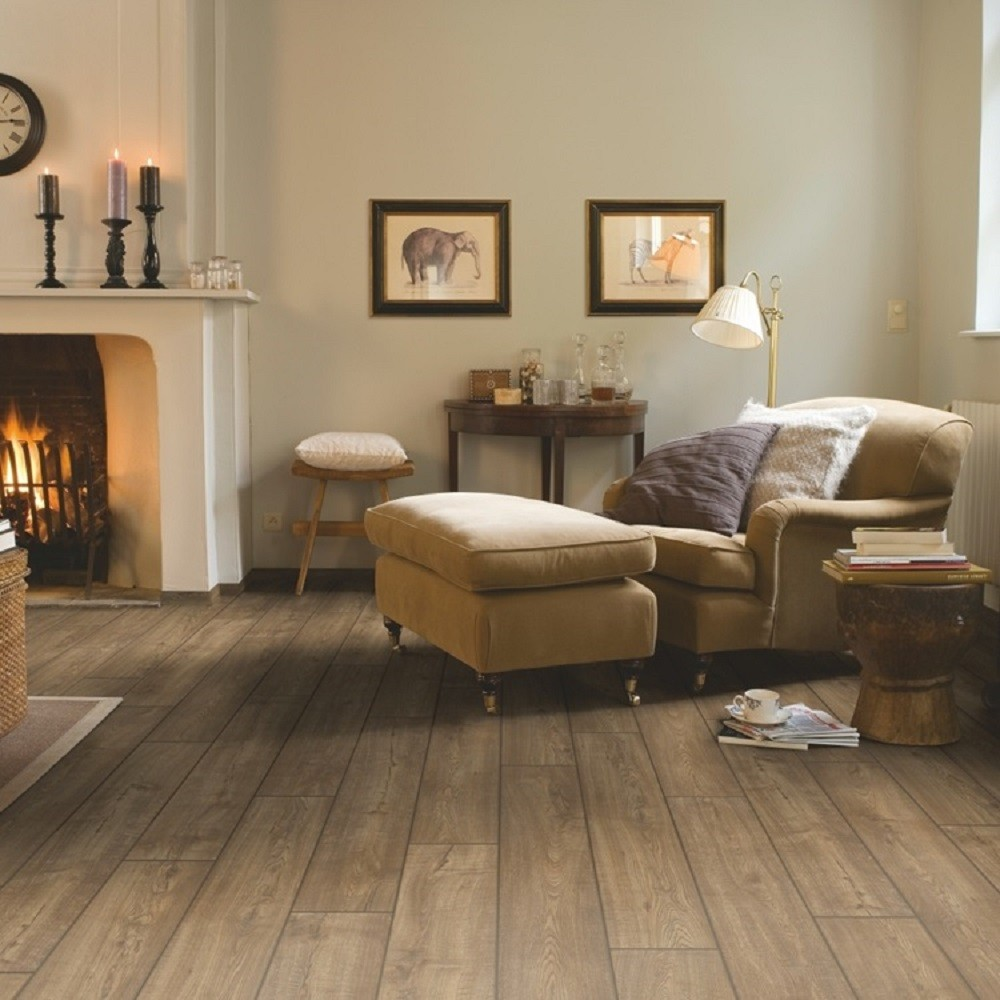 QUICK STEP LAMINATE IMPRESSIVE COLLECTION SCRAPED OAK GREY BROWN FLOORING 8mm