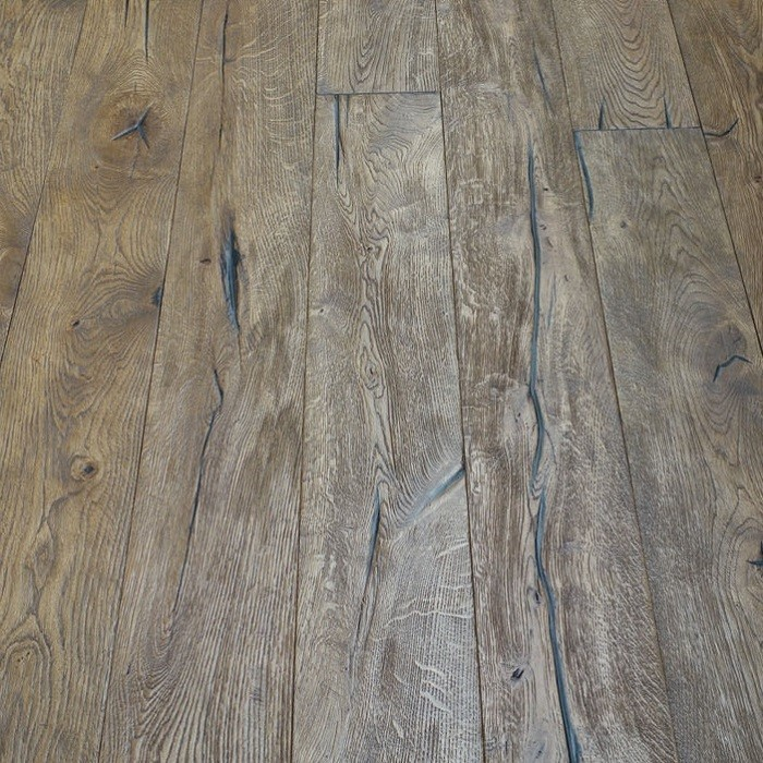 YNDE-ANTIQUE ENGINEERED WOOD FLOORING DISTRESSED BRUSHED LIGHT BROWN ANTIQUE OAK 220x2200mm
