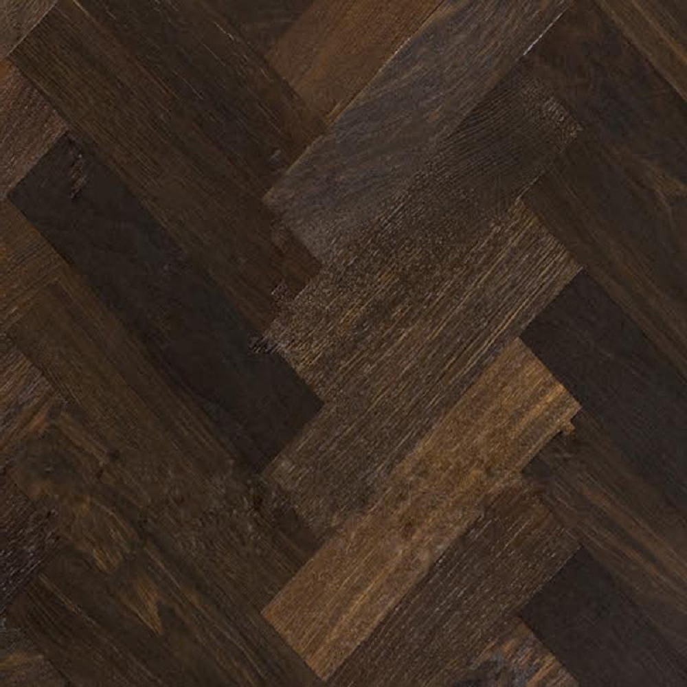 KAHRS Studio Collection Herringbone Swedish Engineered Wood Flooring Oak Smoked AB  Oiled 70mm - CALL FOR PRICE