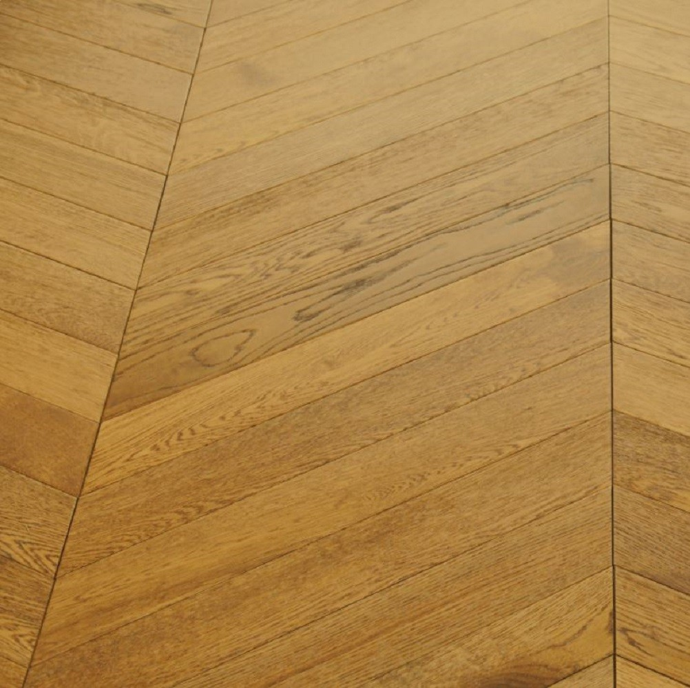 Maxi Chevron Collection Oak Lacquered  Engineered Wood Flooring  90x600mm