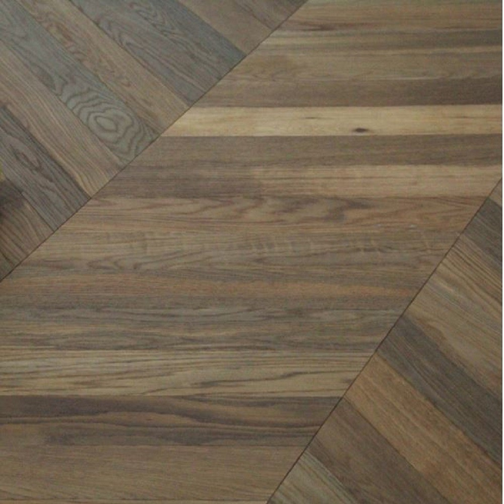 Maxi Chevron Collection Oak  Smoked  Natural Oiled Engineered Wood Flooring  90x600mm