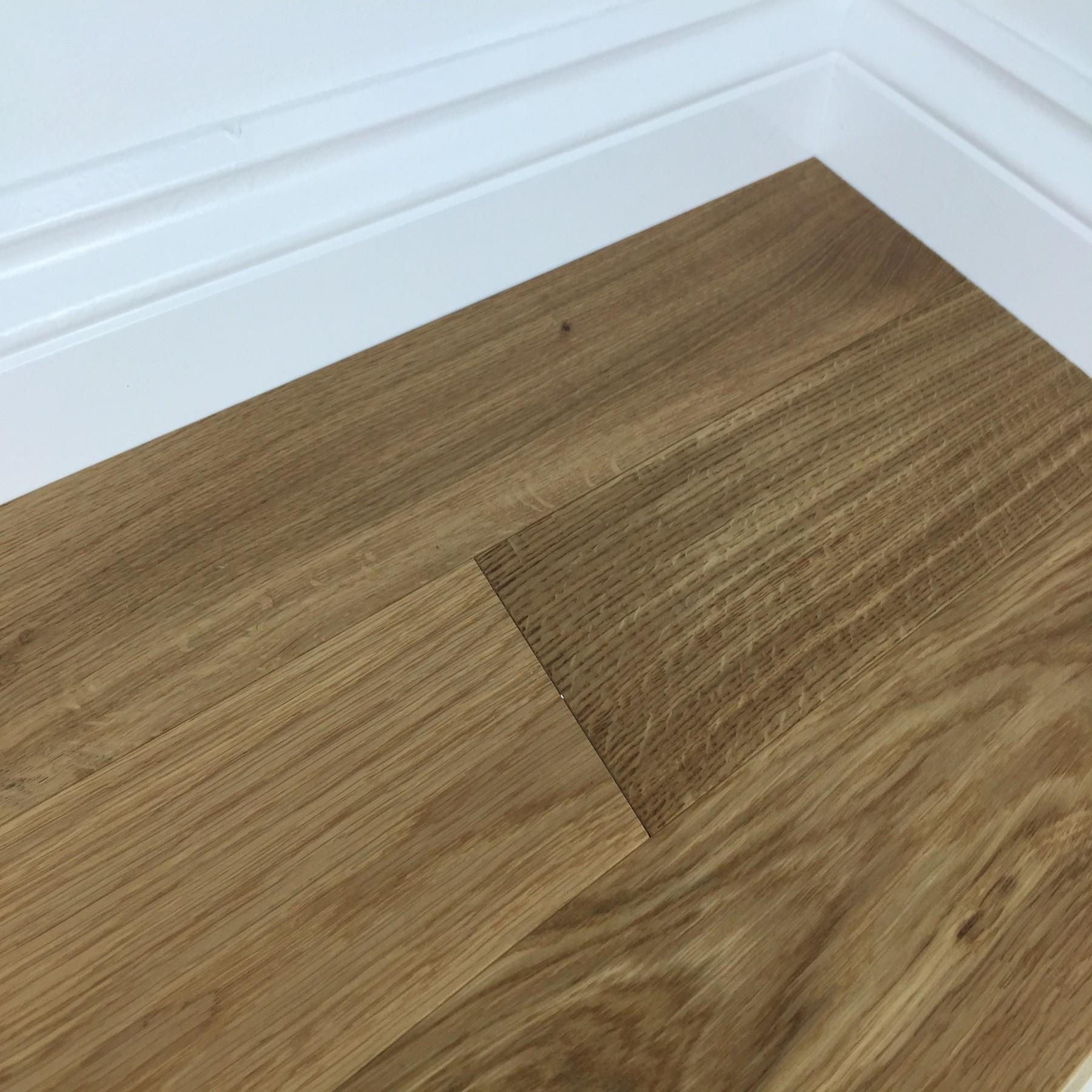 ACUTA CARIBOU Oak Flooring Smoked Brushed & Matt Lacquered