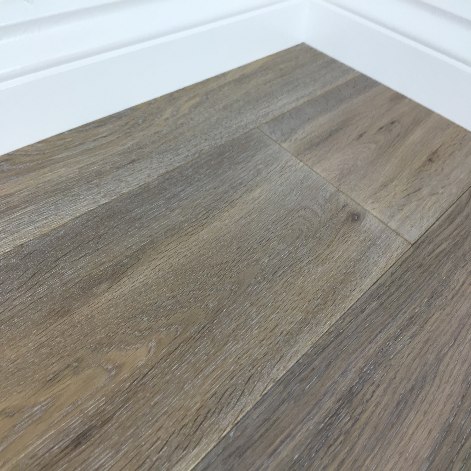 PRERII  OMAHA Oak Flooring Smoked & Whitewash Brushed & Oiled