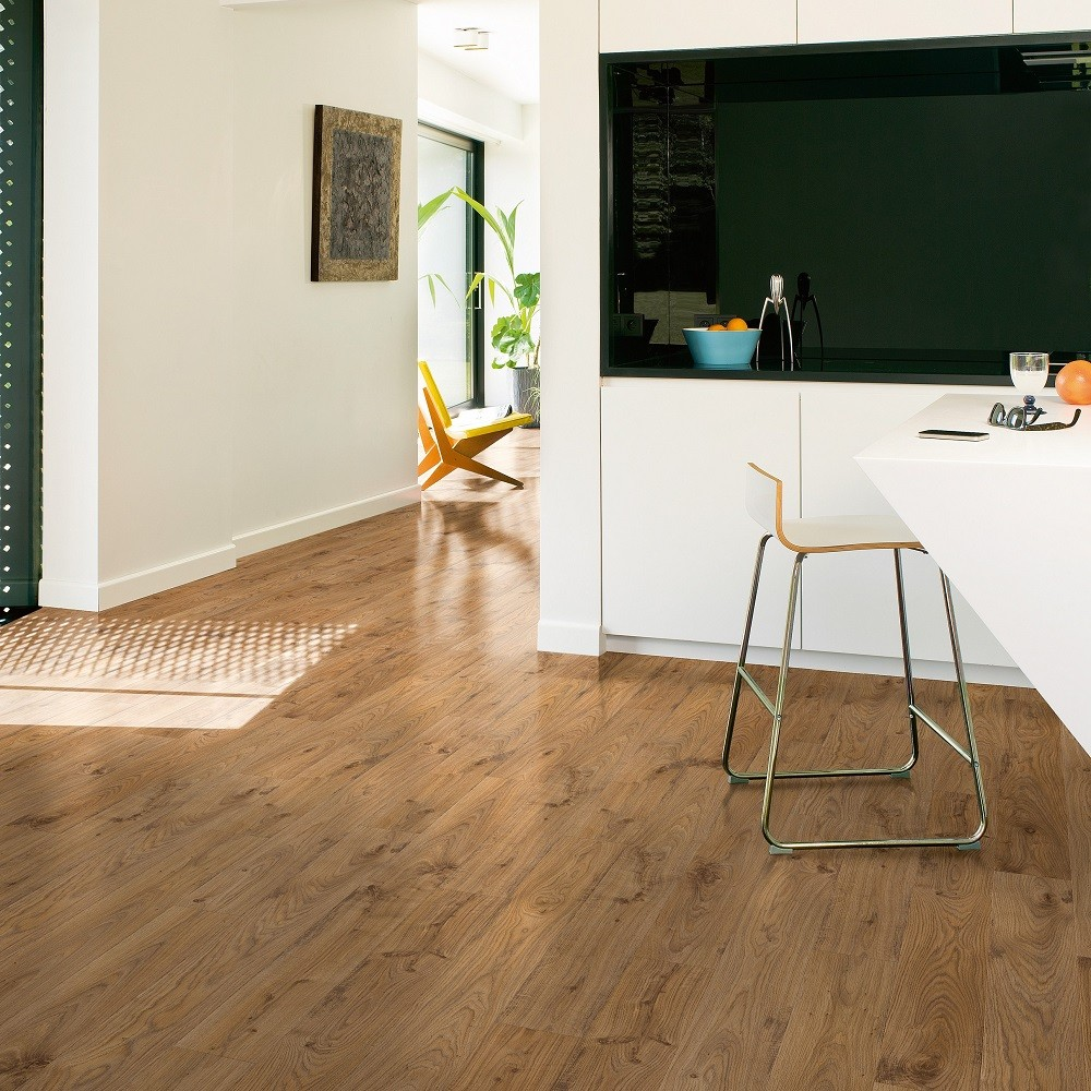 QUICK STEP LAMINATE ELITE COLLECTION OAK NATURAL OLD WHITE  FLOORING 8mm