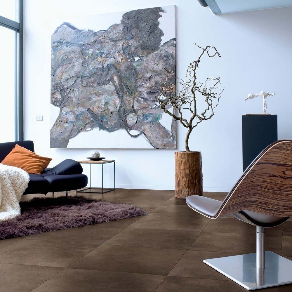 QUICK STEP LAMINATE ARTE COLLECTION POLISHED CONCRETE DARK FLOORING 9.5mm