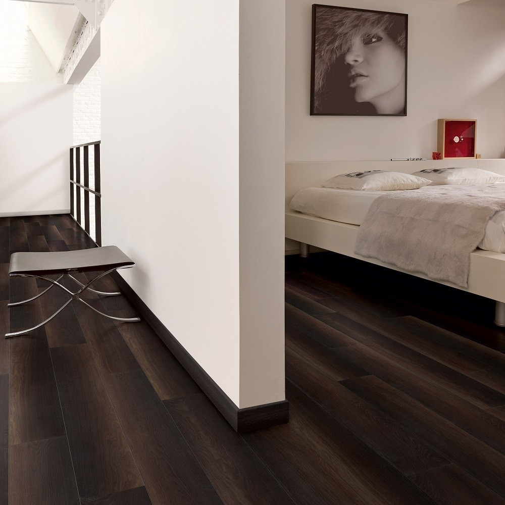 QUICK STEP LAMINATE ELIGNA WIDE  COLLECTION OAK FUMED DARK FLOORING 8mm