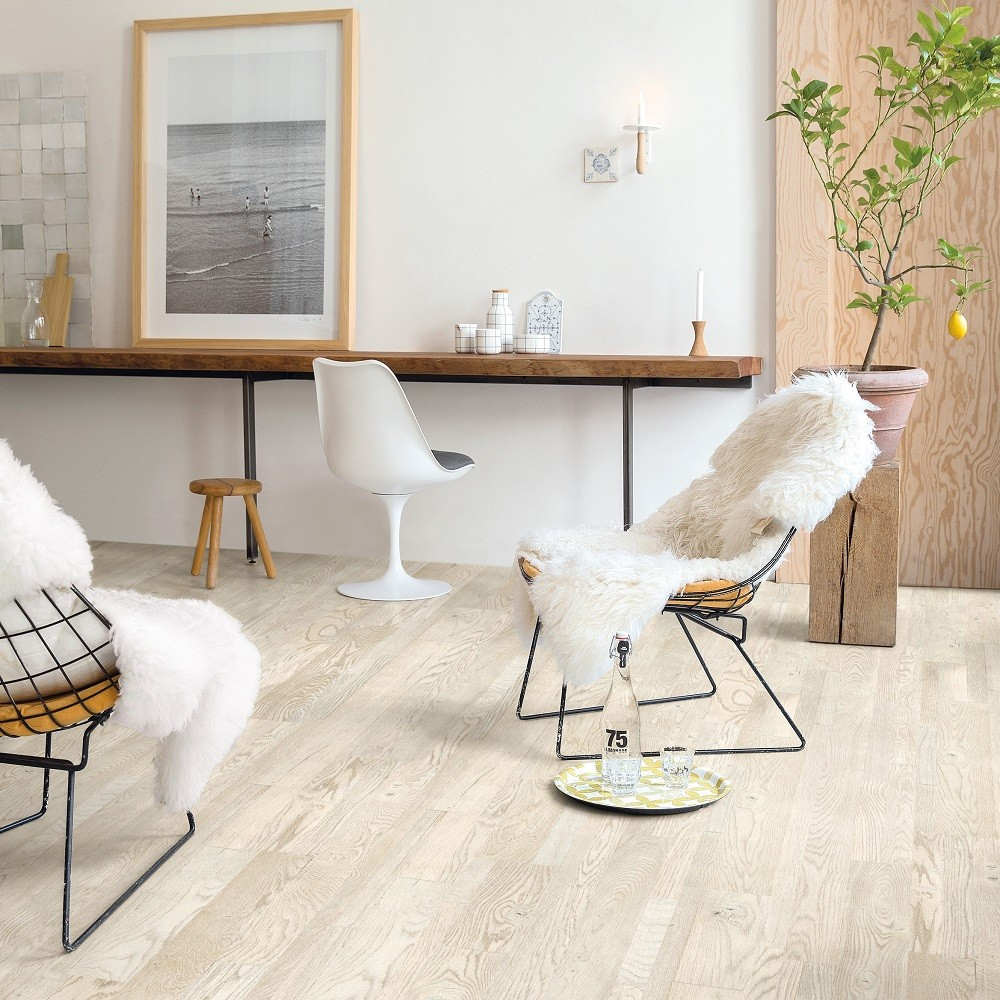 QUICK STEP ENGINEERED WOOD VARIANO COLLECTION  OAK PAINTED WHITE OILED  FLOORING  190x2200mm