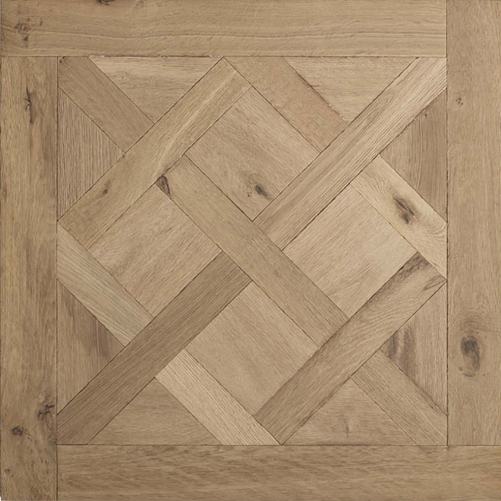 Lalegno Engineered Wood Versaillies PAnels  Brut  Smoked OAK Unfinished Flooring 800x800mm - CALL FOR PRICE