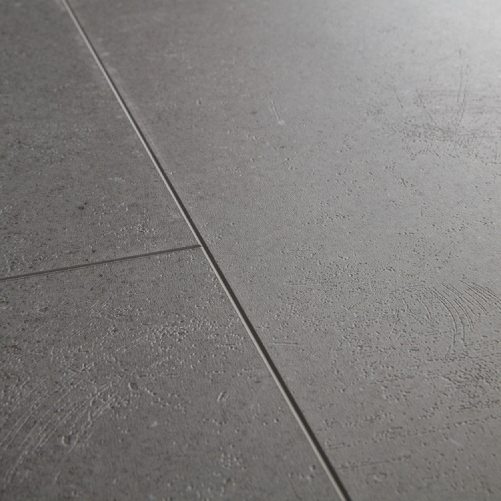 QUICK STEP VINYL WATERPROOF AMBIENT CLICK COLLECTION VIBRANT MEDIUM GREY FLOORING 4.5mm
