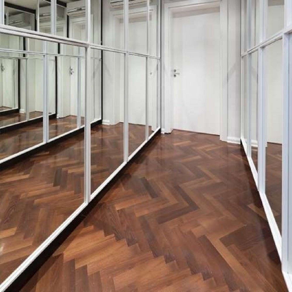 KAHRS Studio Collection Herringbone Swedish Engineered Wood Flooring Walnut Matt Lacquer 70mm - CALL FOR PRICE