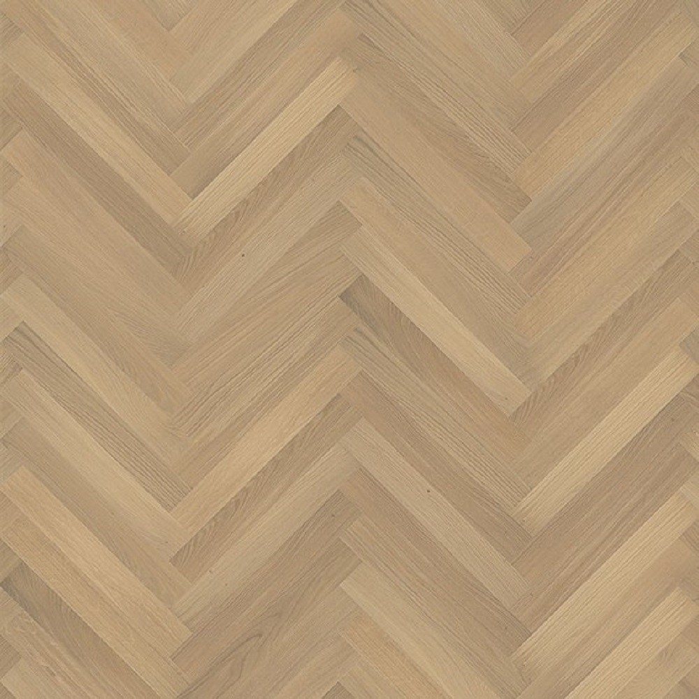 KAHRS Studio Collection Herringbone Swedish Engineered Wood Flooring Oak AB White Lacquered  70mm - CALL FOR PRICE