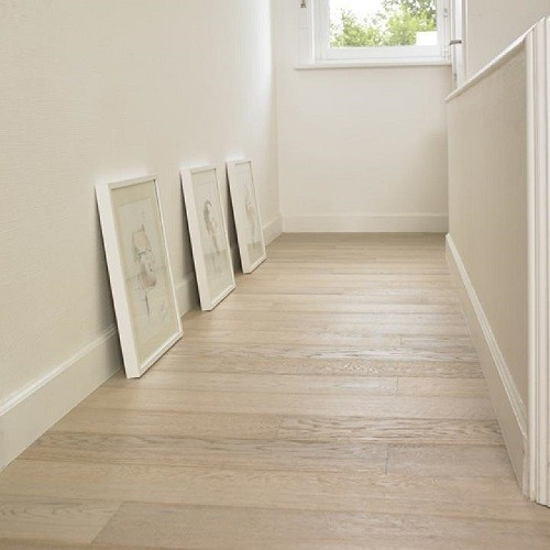 LALEGNO ENGINEERED WOOD FLOORING STANDARD COLOURS COLLECTION  WITMAT T&G OAK BRUSHED WHITE MATT LACQUERED 189X1860MM - CALL FOR PRICE
