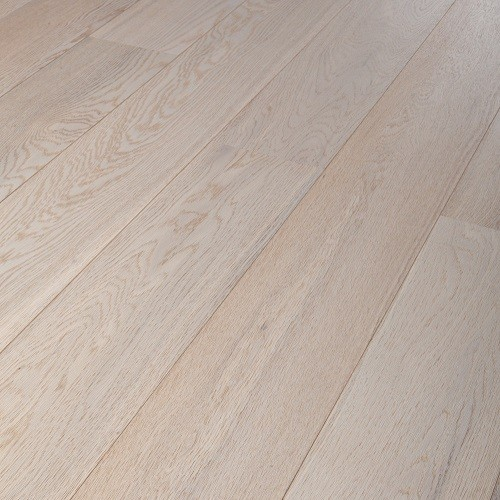 LALEGNO ENGINEERED WOOD FLOORING STANDARD COLOURS COLLECTION  WITMAT CLIC OAK BRUSHED WHITE MATT LACQUERED 189X1860MM - CALL FOR PRICE