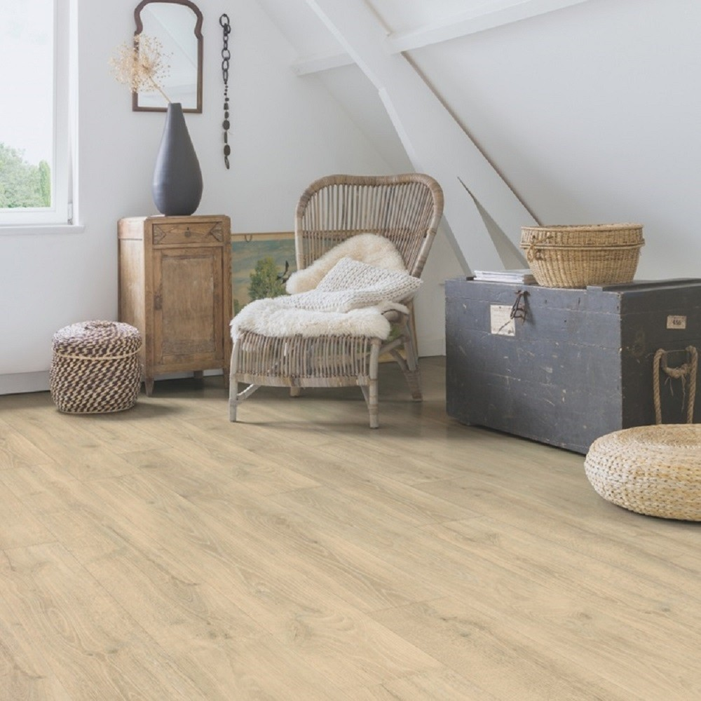 QUICK STEP LAMINATE MAJESTIC COLLECTION OAK WOODLAND BEIGE FLOORING 9.5mm
