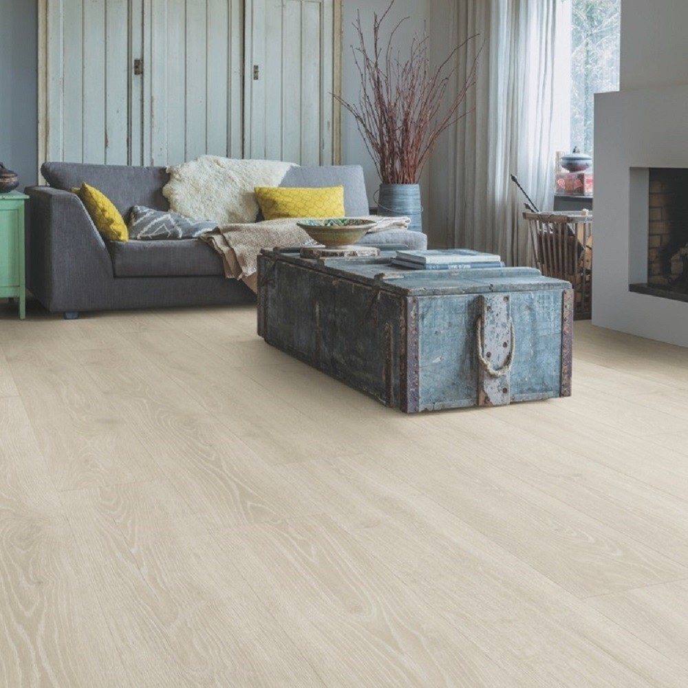 QUICK STEP LAMINATE MAJESTIC COLLECTION OAK WOODLAND LIGHT GREY  FLOORING 9.5mm