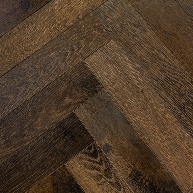 Denoel Engineered Oak Oiled Foundary Steel Parquet Flooring 90 x 360mm