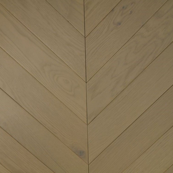 YNDE-PARQUET  CHEVRON ENGINEERED WOOD FLOORING GREY MATT LACQURED OAK 90x750mm