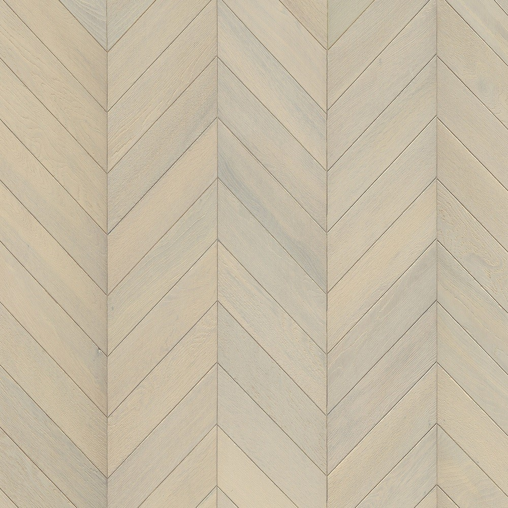 Kahrs Chevron Swedish Engineered Wood Flooring Oak White