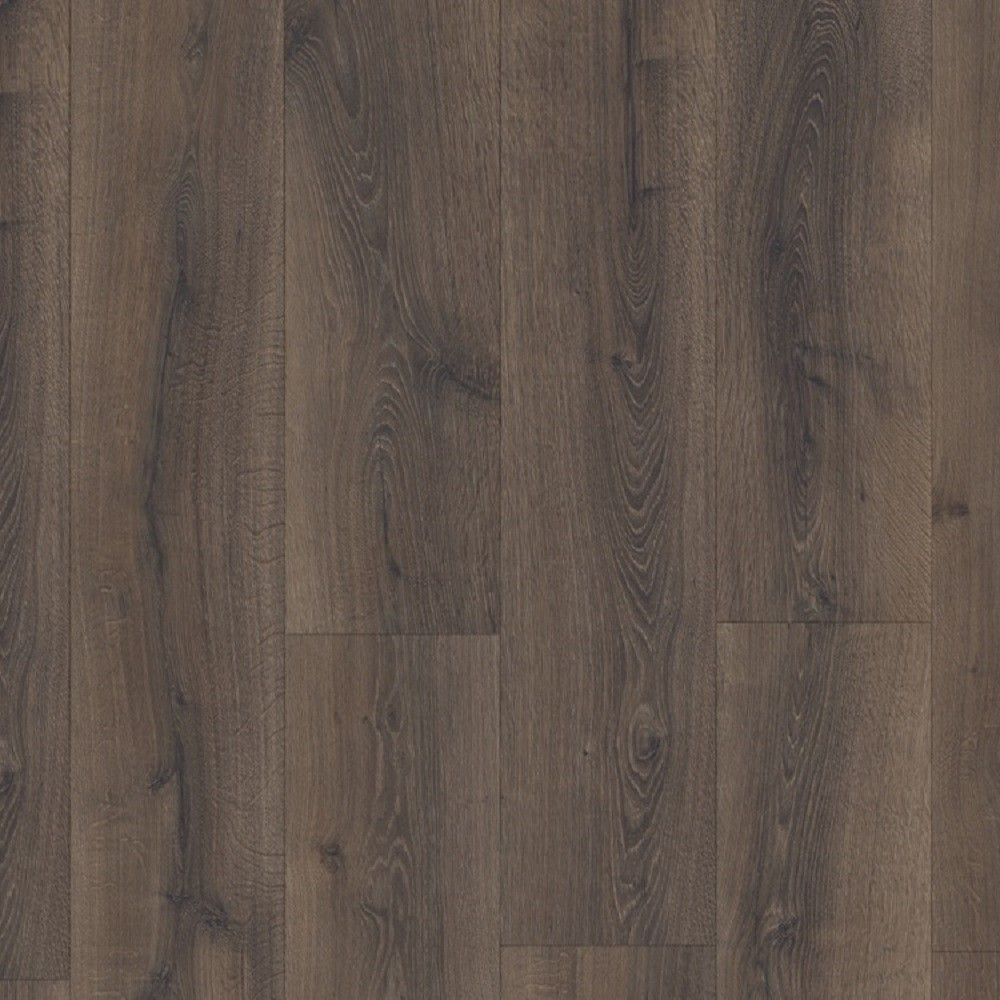 QUICK STEP LAMINATE ENGINEERED MAJESTIC COLLECTION OAK DESERT OAK BRUSHED DARK BROWN