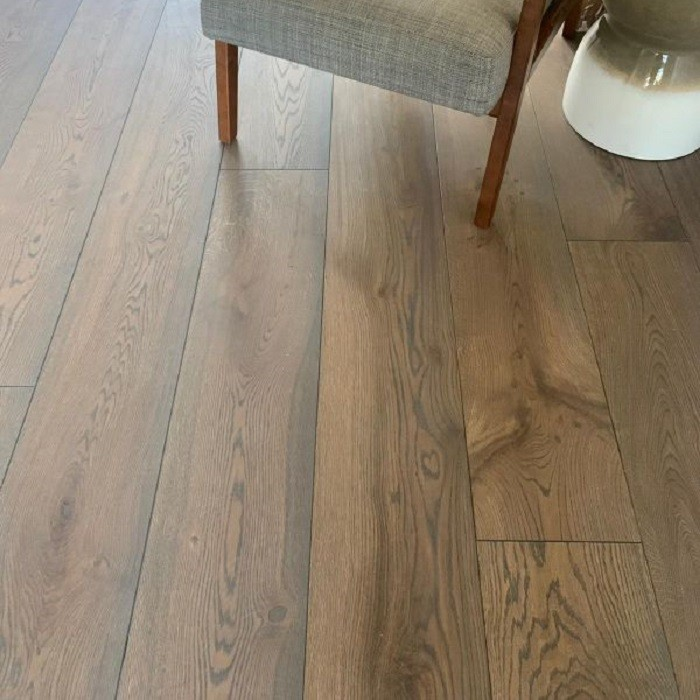 ECO HARDWOOD EUROPEAN PREMIUM ENGINEERED FLOORING SAICOS COLOURS COLLECTION GRAPHITE BRUSHED RUSTIC OAK OILED 180MM