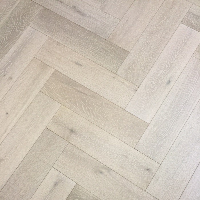 Y2 Herringbone Engineered Wood White Washed