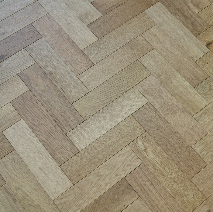 Y2 HERRINBONE ENGINEERED WOOD FLOORING NATURAL  BRUSHED MATT LAC 80x300mm