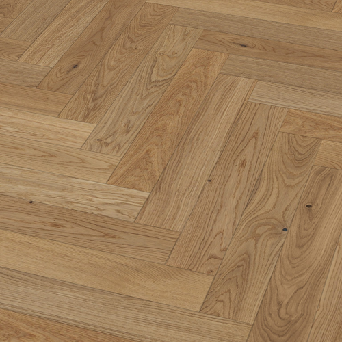 PARADOR HERRINGBONE  ENGINEERED WOOD FLOORING TRENDTIME OAK CREAM MATT LACQUER 95X570MM