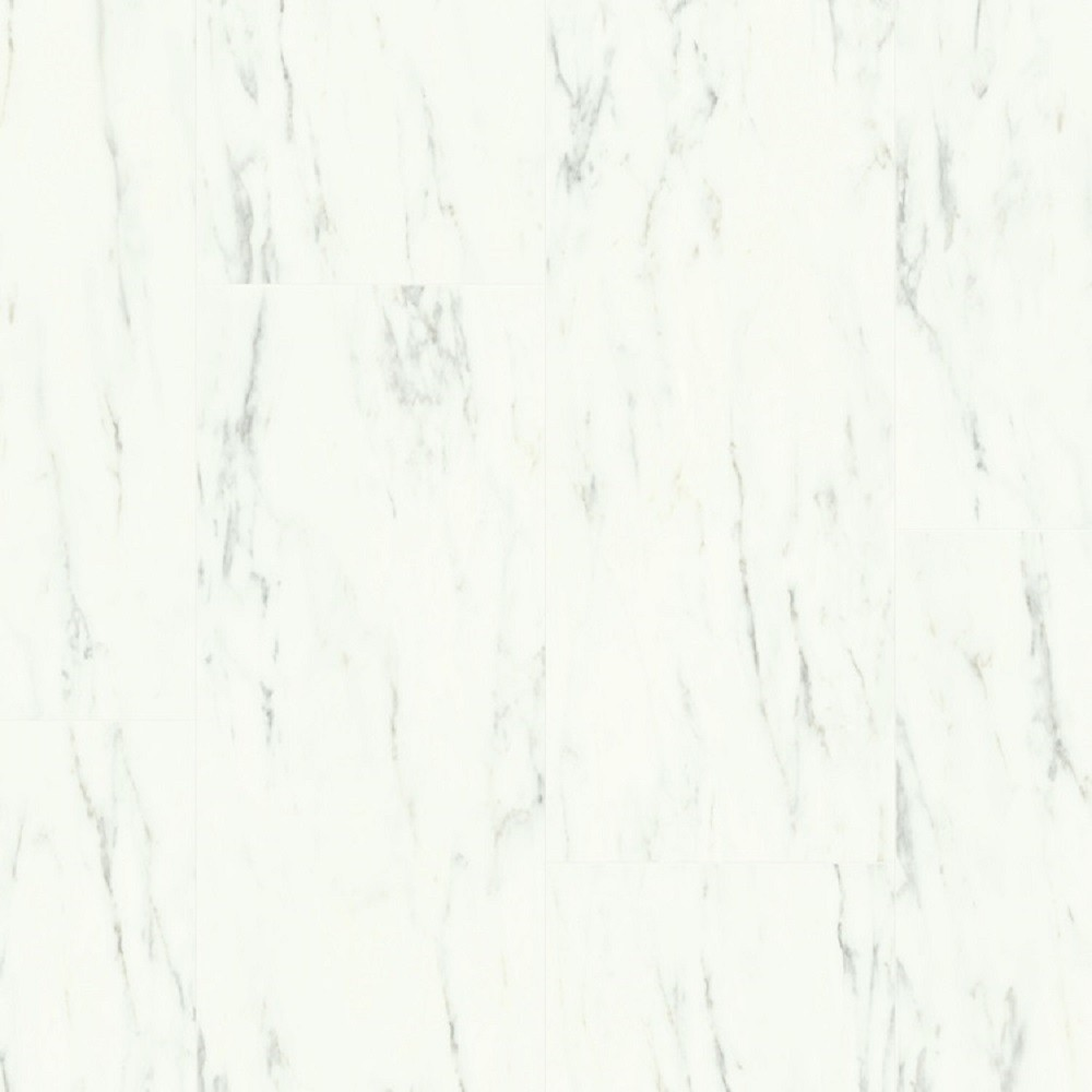 QUICK STEP VINYL WATERPROOF AMBIENT CLICK COLLECTION MARBLE CARRARA WHITE