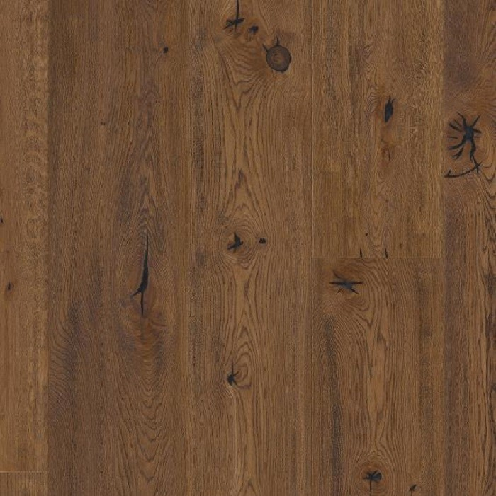 BOEN ENGINEERED WOOD FLOORING RUSTIC COLLECTION CHALET ANTIQUE BROWN OAK RUSTIC BRUSHED OILED 200MM - CALL FOR PRICE