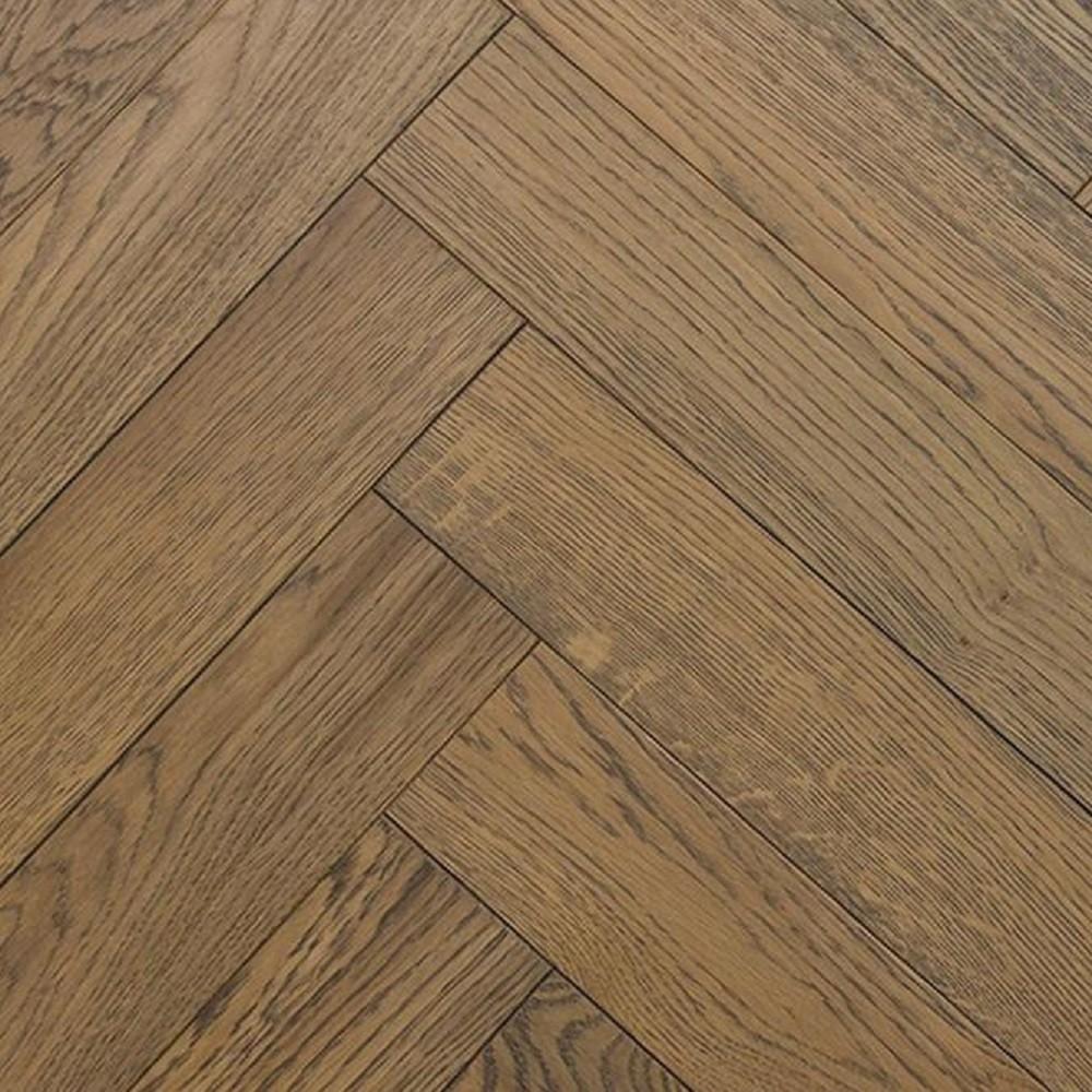 Natural Solutions Engineered Wood Flooring Herringbone Light Grey