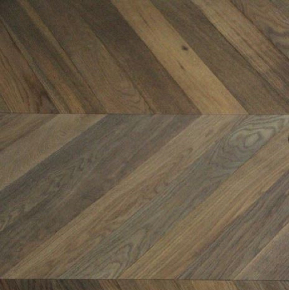 MAXI CHEVRON ENGINEERED WOOD FLOORING OAK RUSTIC SMOKED BRUSHED NATURAL OILED 90X600MM