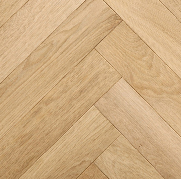 LIVIGNA HERRINGBONE SOLID WOOD FLOORING OAK PRIME UNFINISHED 70X500MM