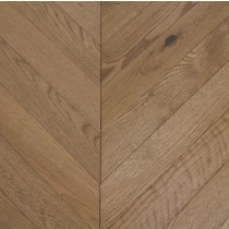 YNDE-PARQUET  CHEVRON ENGINEERED WOOD FLOORING SMOKED STAIN BRUSHED MATT LACQURED OAK 90x750mm