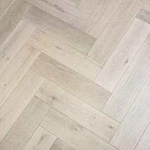 Y2 Herringbone Engineered Wood White Washed