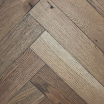CAPRIO PLYMOUTH Oak Rustic Brushed & Oiled Parquet , Frozen Umber
