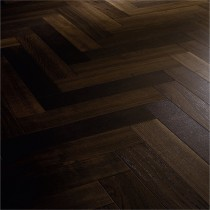 HINTONII Walnut Natural Smooth Lacquered Tongue & Groove Heringbone Parquet