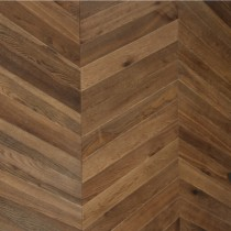 MAXI CHEVRON ENGINEERED WOOD FLOORING OAK RUSTIC DOUBLE SMOKED UV OILED  90X600MM