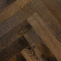 CAPRIO CHARLOTTE Oak Rustic Distressed &  Oiled Parquet , Foundary Steel