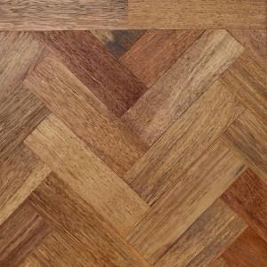 Livigna Herringbone SOLID MERBAU PARQUET Natural Flooring Unfinished 70 x230mm