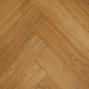 SALICINA MACON Oak Herringbone Brushed Matt Lacquered