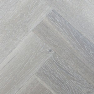 SALICINA CUSSETA Oak Herringbone Brushed White Lacquered