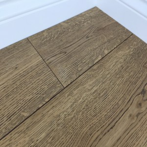 Grisea Oak Flooring Lightly Brushed Matt UV Lacquered, Brown