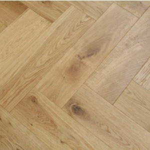Maxi Herringbone Oak Natural Oiled Engineered Wood Flooring 90x550mm