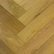 NATURAL SOLUTIONS HERRINGBONE  ENGINEERED WOOD FLOORING OAK RUSTIC BRUSHED UV OILED 100x400mm