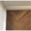 NATURAL SOLUTIONS CHATEAU HERRINGBONE TEAK LAMINATE WOOD FLOORING 8mm